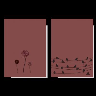 Set vogel & bloem