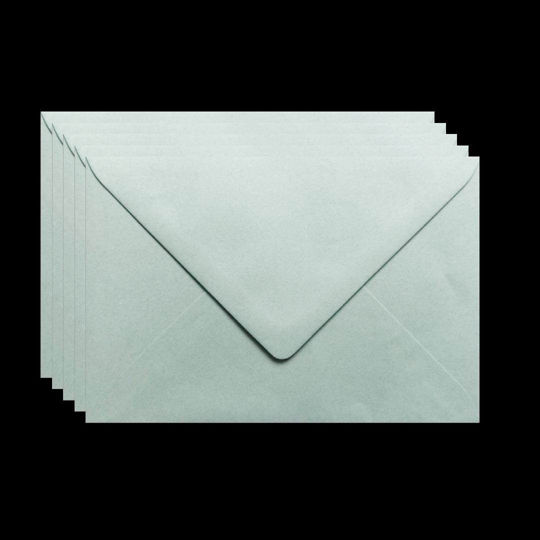 enveloppen grijsgroen 5 stuks